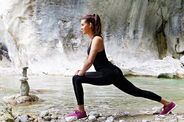 fitness girl qui fait du sport